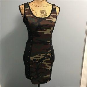 Dots medium sexy camouflage mini dress